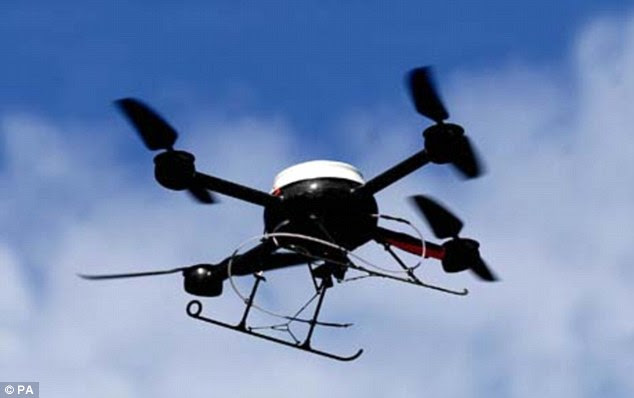 Eye in the sky: Brazilian police are to use surveillance drones at the Confederation Cup football tournament ahead of next year's World Cup