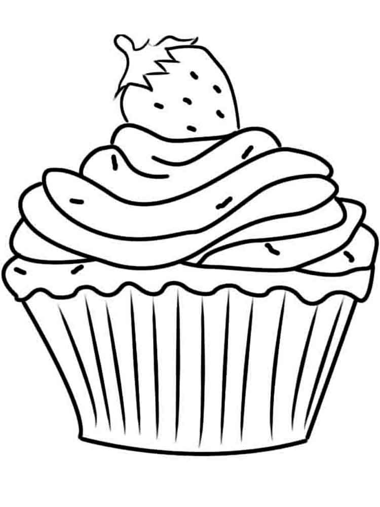 birthday cupcake coloring pages 13