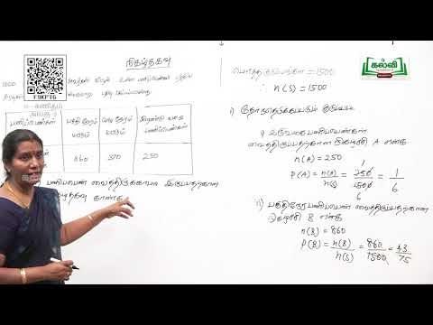 8th Maths நிகழ்தகவு நிகழ்ச்சிகளின் வகைகள் அலகு 9 பகுதி 3 Kalvi TV