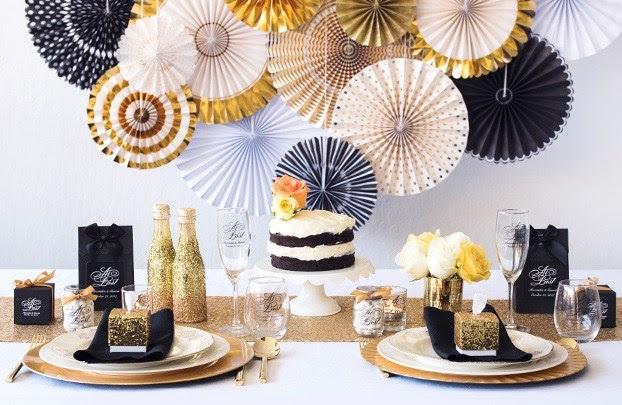 Glam Gold And Black Wedding Decoration Ideas Bride Bows