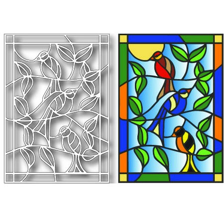Image result for tutti designs bird stained glass die