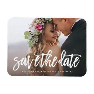 Brushed Save the Date Magnet