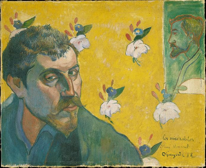 Paul Gauguin, Self-portrait with Portrait of Bernard (Les Misérables), 1888, Van Gogh Museum, Amsterdam