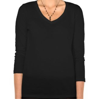 Ladies V-necked T-shirt: Lily of the Valley