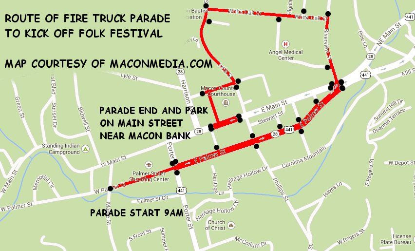 2013 Fire Apparatus Parade Route  By Bobby Coggins