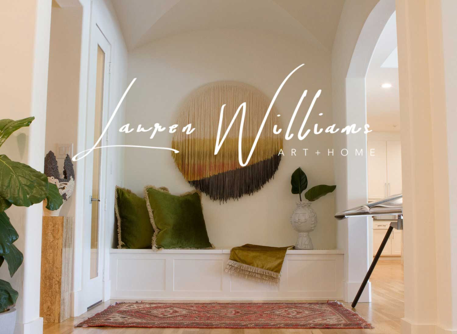 Lauren Williams Art Home Modern Fiber Art