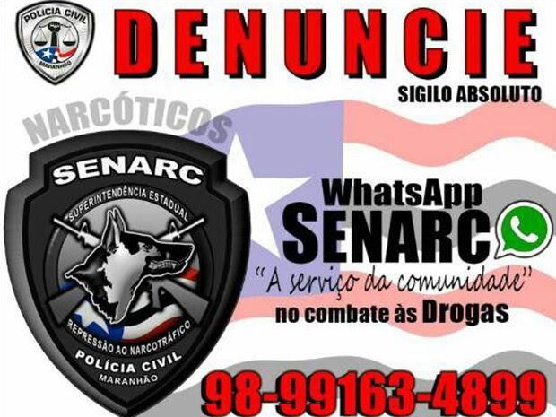 Projeto oferece ao cidadão uma ferramenta para denunciar de forma sigilosa o tráfico de drogas (Foto: Divulgação/Policia Civil)
