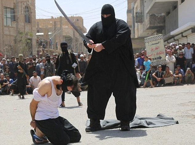 Obese executioner: The 30-stone jihadi has become infamous as one of ISIS