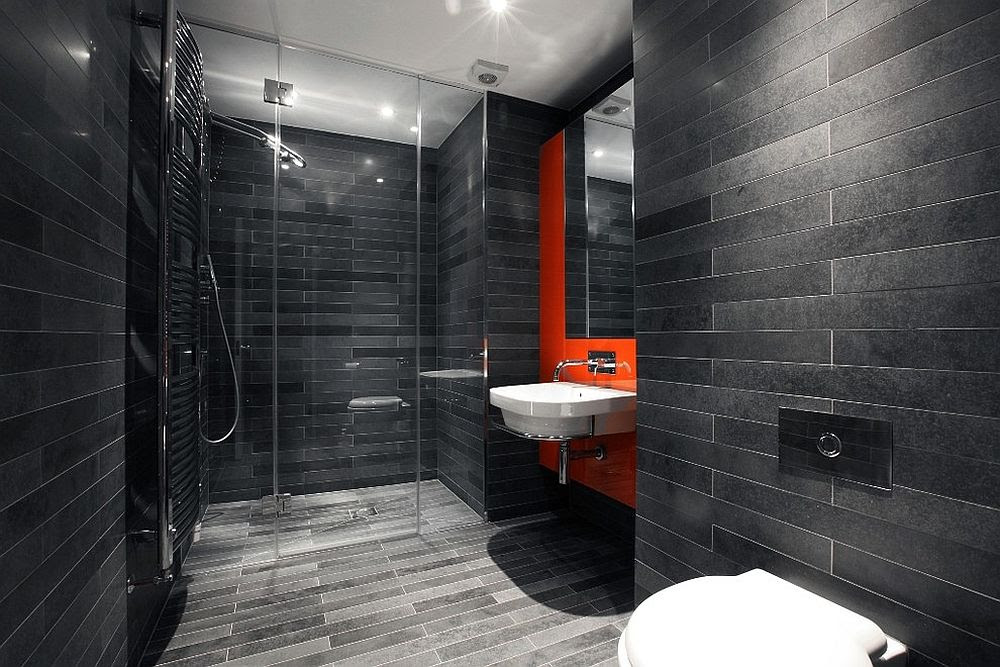 Trendy Bathrooms that Combine Gray and Color in ...