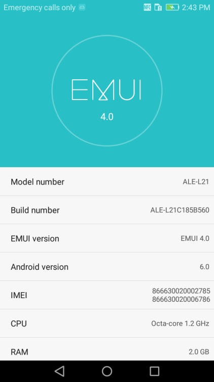 Huawei P8 Lite B560