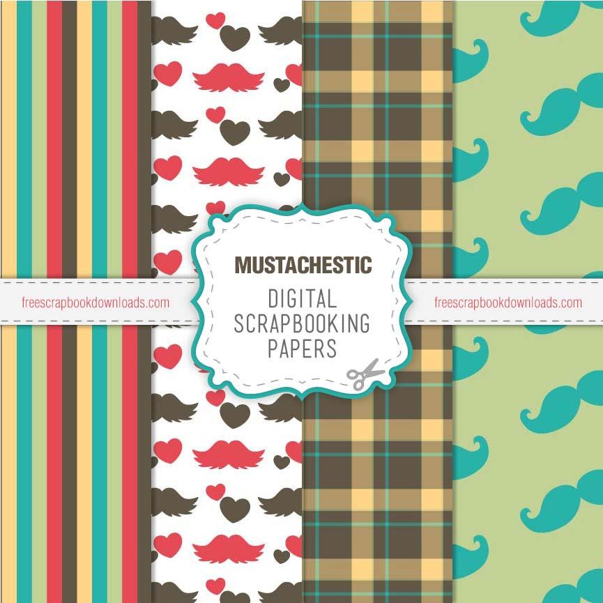 Mustachestic Moustache Scrapbooking Pages thumbnail