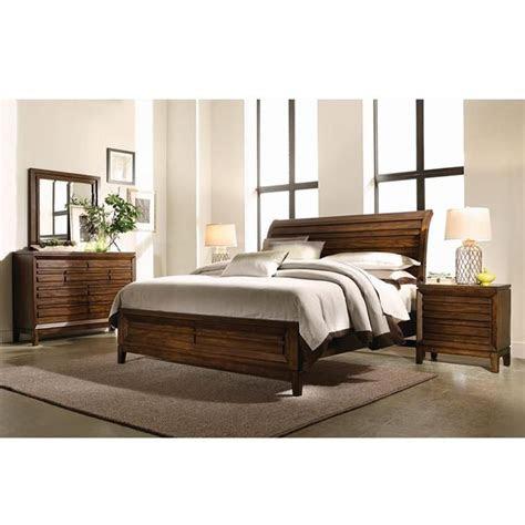 piece king bedroom set  cinnamon walnut nebraska