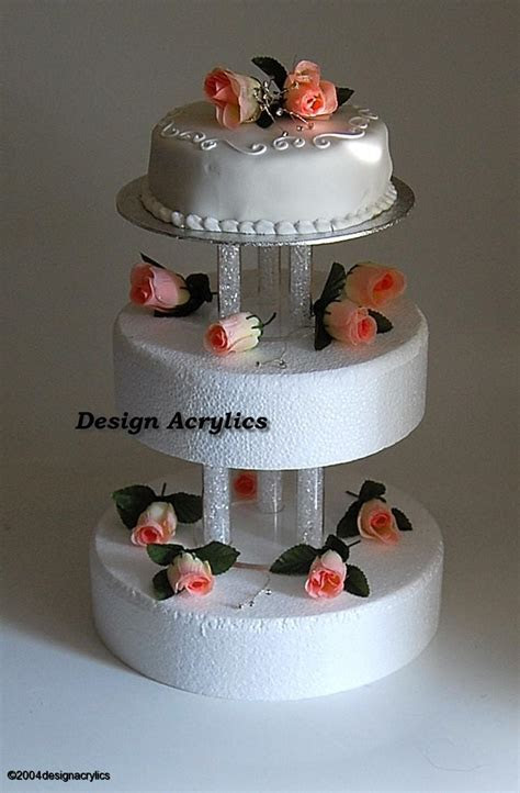 2 x ACRYLIC SEPARATORS / STANDS FOR 3 TIER WEDDING CAKE   eBay