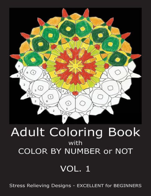 Adult Coloring Book With Color By Number or Not by C. R ...