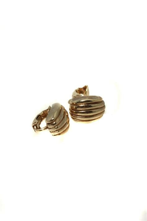 Vintage Christian Dior Earrings   Gold Dior Earrings