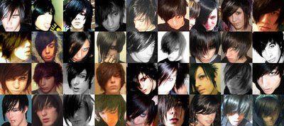 Magical Grid Of Bad Emo Hair.
