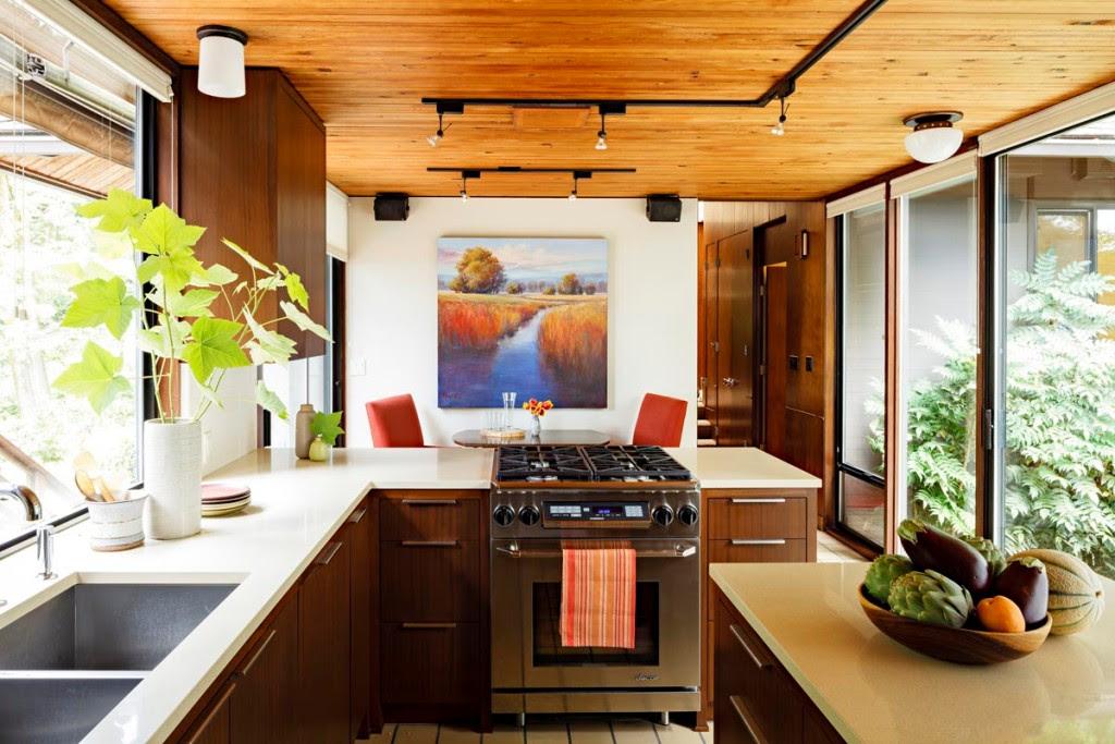 Model of Mid Century Modern Kitchen