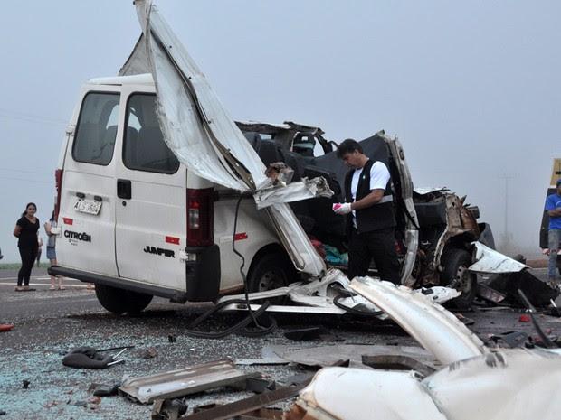 Cinco pessoas morreram e sete ficaram feridas após o acidente (Foto: Dirceu Portugal/Futura Press/Estadão Conteúdo)