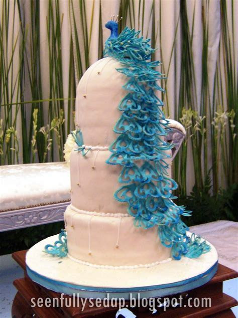 Seenfully Sedap: Wedding Cake   The Peacock, Ezani's Wedding