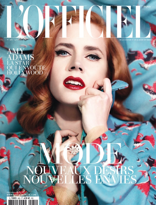amy adams lofficiel cover0 Amy Adams Covers LOfficel Paris February 2014 in Miu Miu