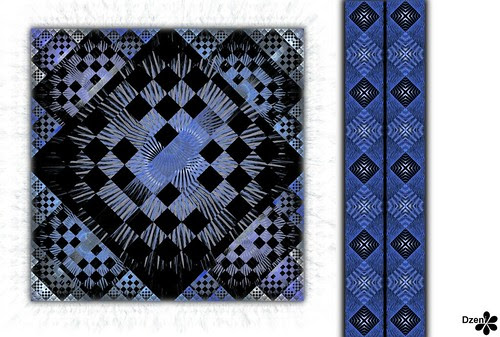 Funky Blue Patchwork