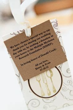 Image result for charity donation wedding favours wording