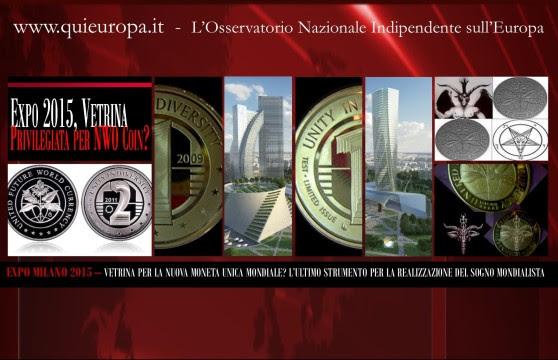 New World Order Coin - Moneta Unica Mondiale - Expo Milano 2015