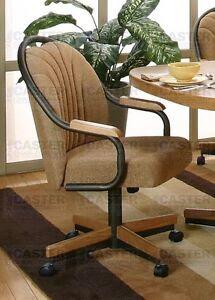 Casual Rolling Dining Caster Chair \u0026 Swivel Tilt Set of 2  eBay