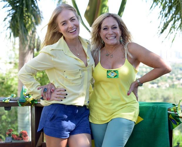 Angélica e Susana Viera posam para foto (Foto: Camila Serejo / TV Globo)
