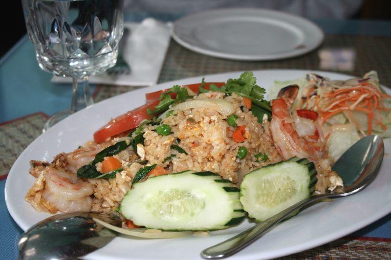 Basil Fried Rice with Shrimp