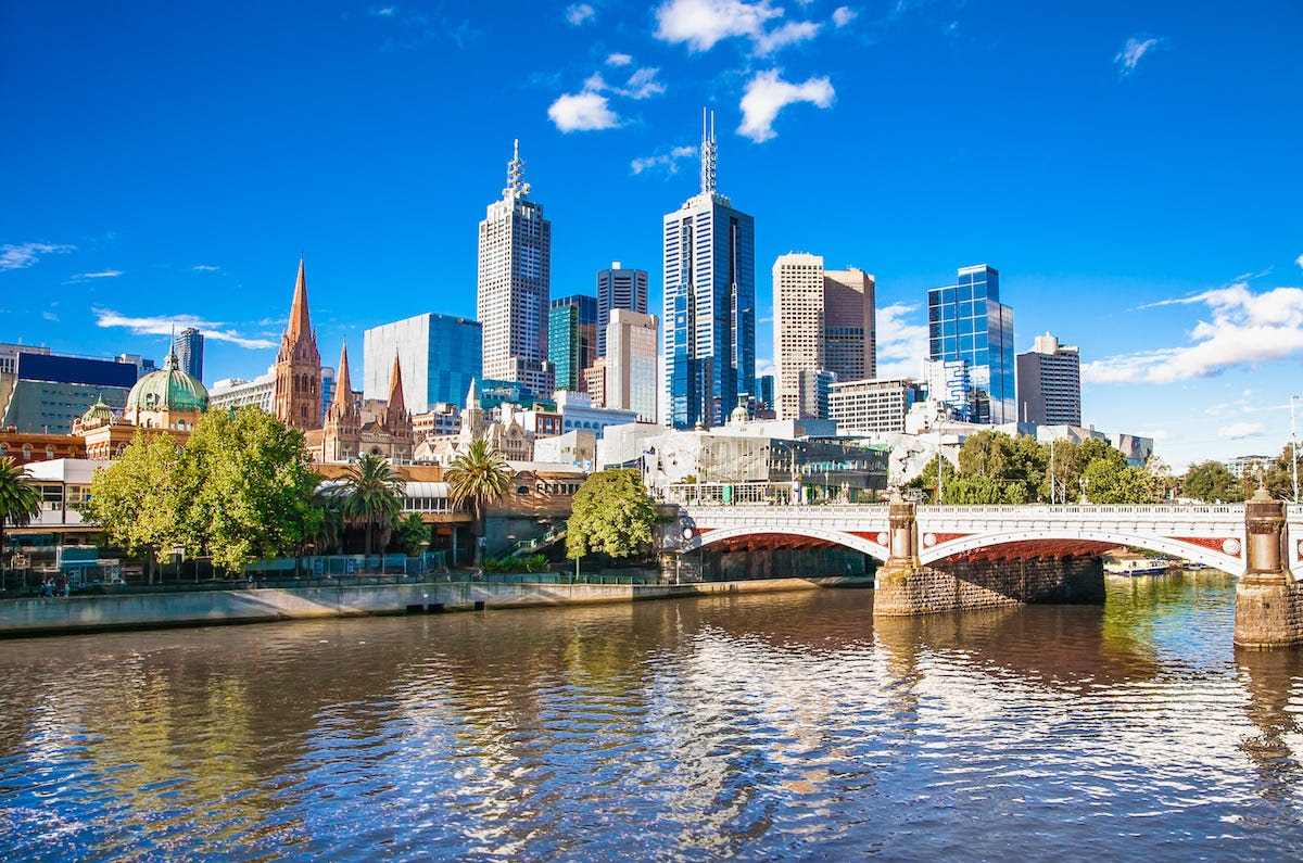 6. Melbourne, Australia: Melbourne came in sixth place with a median multiple of 9.5.