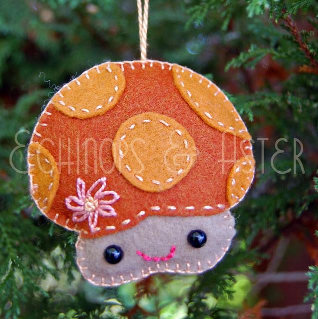 Merry Mushroom Felt Ornament