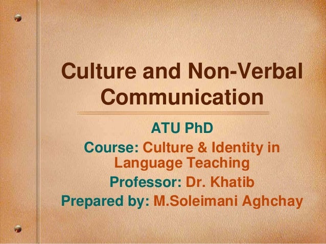 Culture and non verbal communication