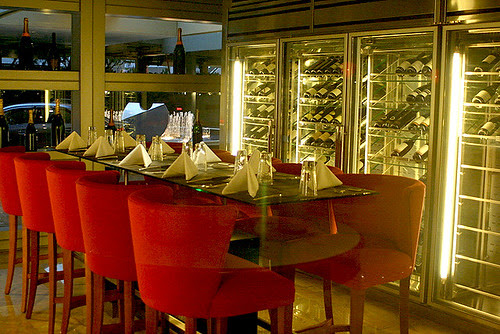 The Wine Vault at Pan Pacific Hotel is the first stop