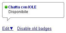 Google Talk badge