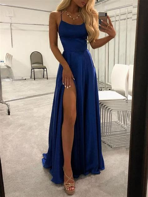 Sexy Strappy Backless Thigh Split Evening Dress (S/M/L/XL