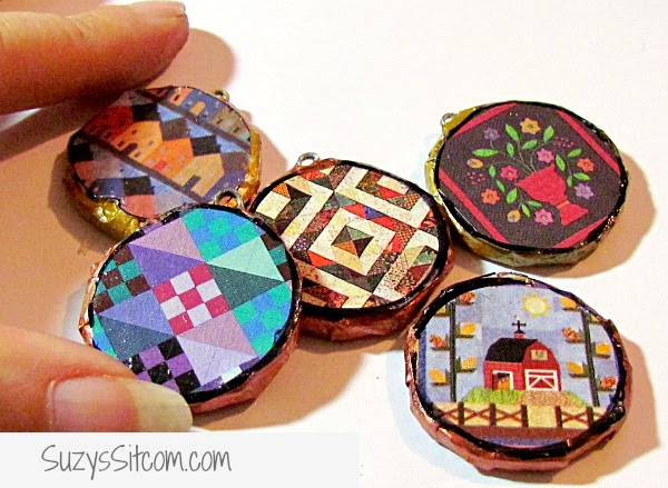 recycled cardboard pendants kids crafts