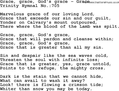 Grace Grace Gods Grace Lyrics