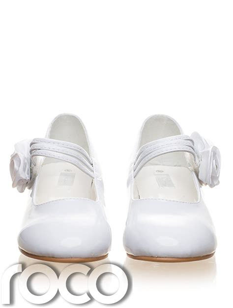 girls white shoes communion shoes prom shoes flower