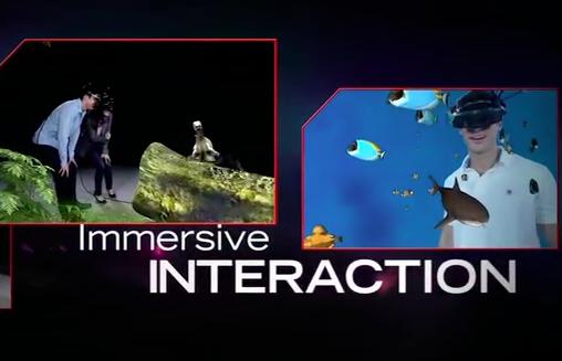 Imersão interativa com o MREAL da Canon (Foto: Reprodução)