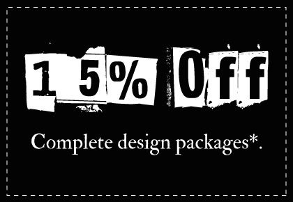 15% Design Packages
