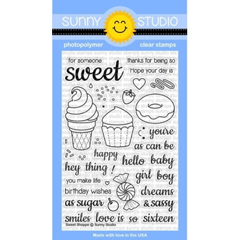 Sunny Studio SWEET SHOPPE Clear Stamp Set SSCL136