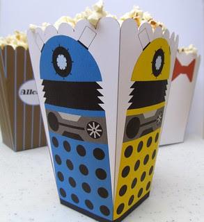 Dalek Popcorn Holder
