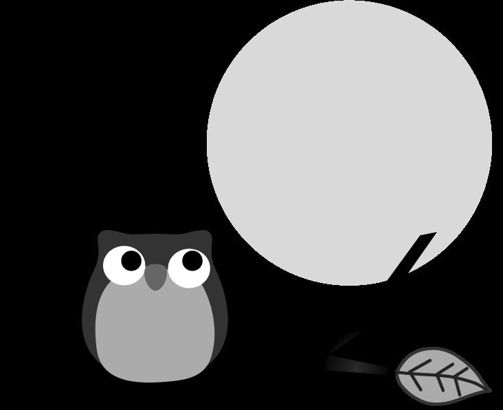 フクロウと月のイラスト無料イラストフリー素材
