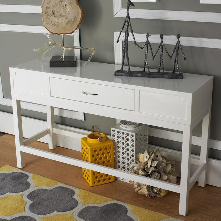 White Lacquer Console Table Product Selections - HomesFeed