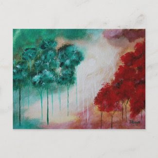 Postcard Titled: Enchanted From Original Painting zazzle_postcard