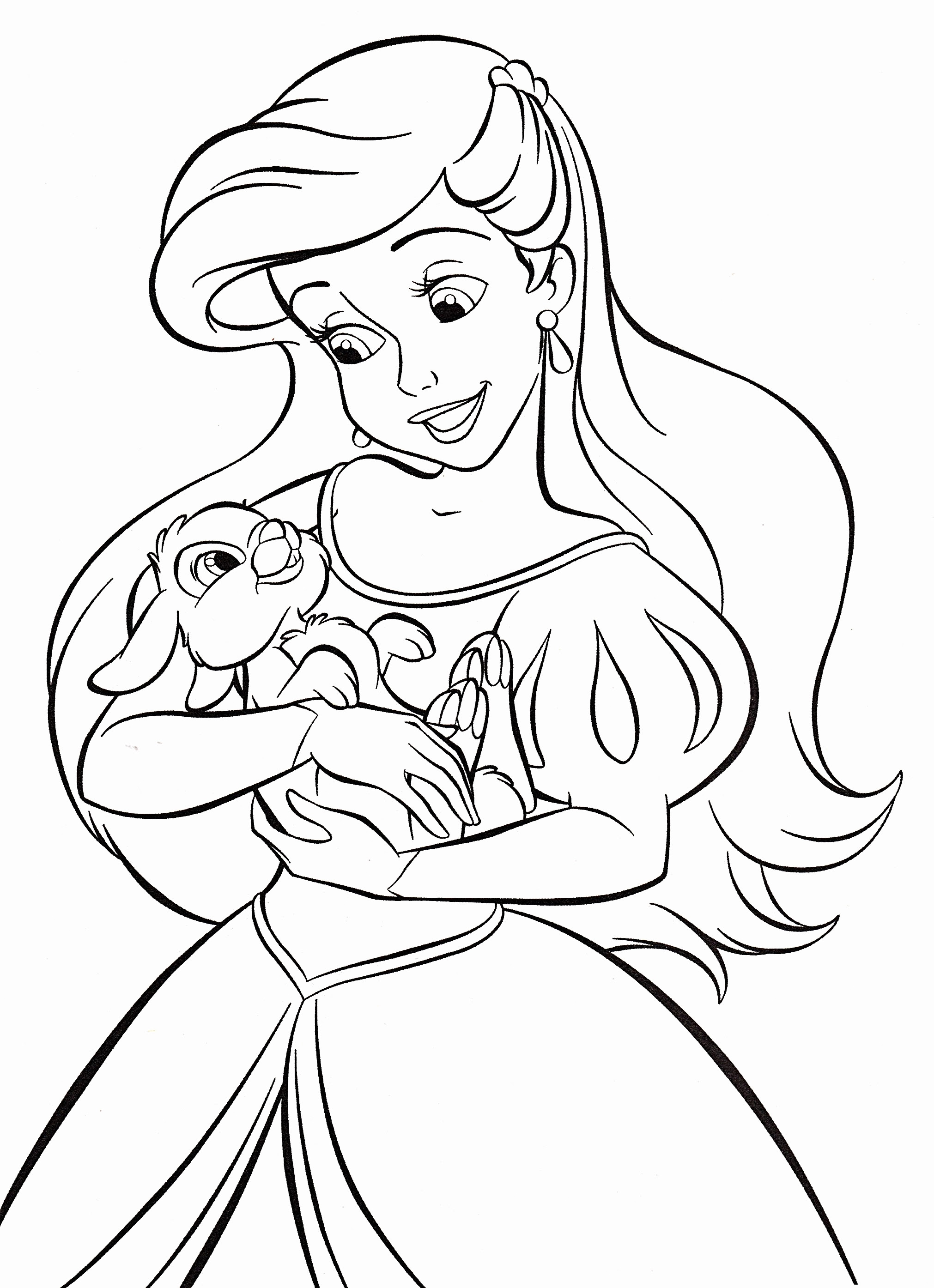 Ariel Christmas Coloring Pages at GetColorings.com   Free ...