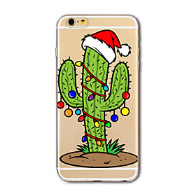 Para Capinha iPhone 7 / Capinha iPhone 7 Plus / Capinha iPhone 6 Translucido / Estampada Capinha Capa Traseira Capinha Natal Macia TPU