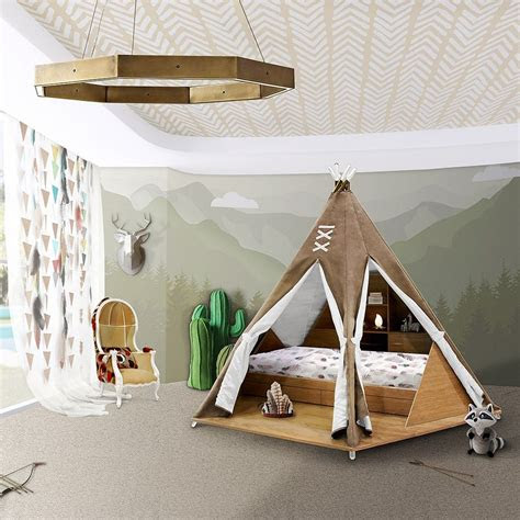 luxury childrens teepee tent bed  toy storage