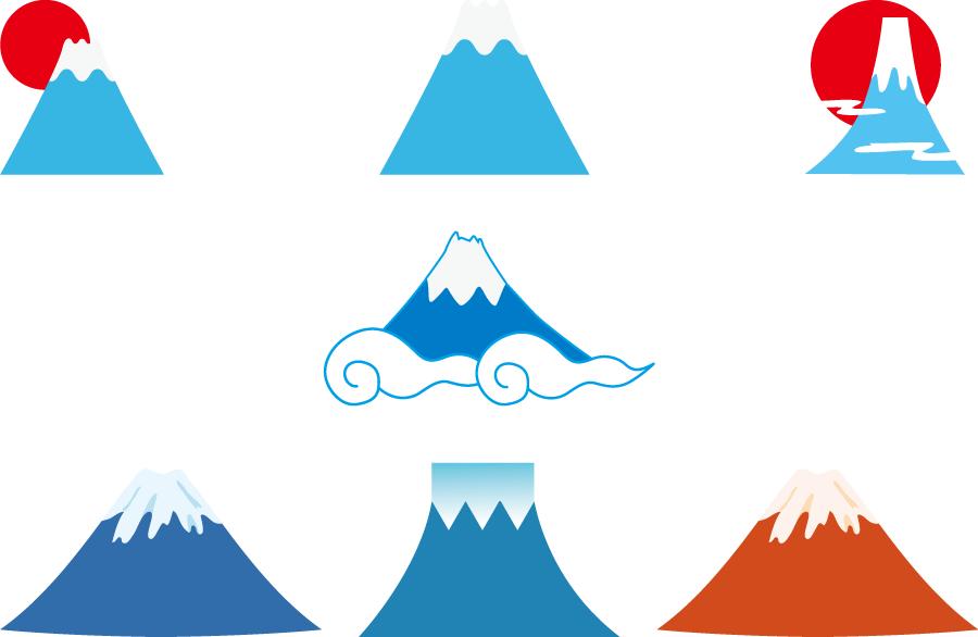 フリーイラスト 7種類の富士山のセットでアハ体験 Gahag 著作権